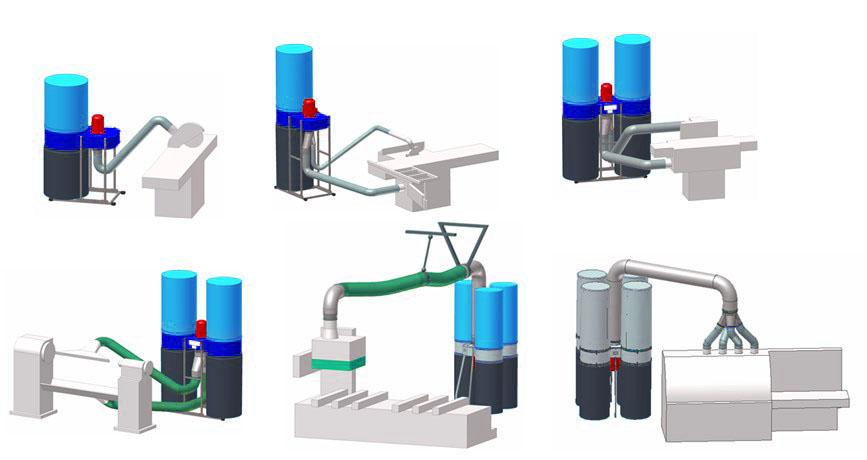 Сфера применения стружкоотсоса на производстве
