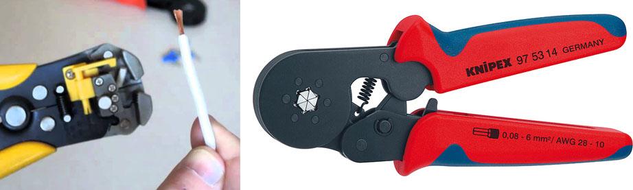Пресс-клещи, кримпер или инструмент для опрессовки или обжима наконечников
