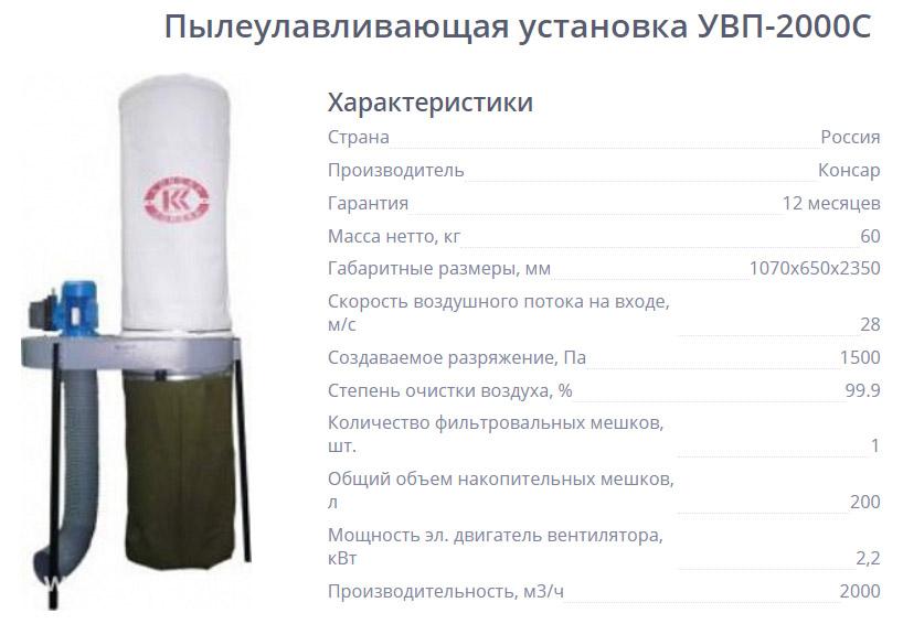 Пылеулавливающая установка УВП-2000С