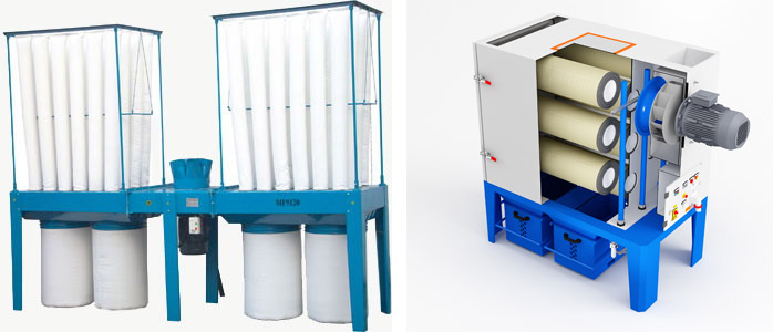 Пылеулавливающие системы с картриджными фильтрами горизонтального типа