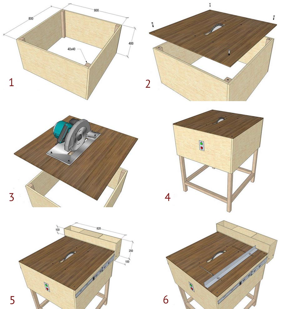 Схема сборки простого стола