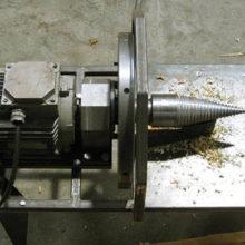 Как сделать самодельный дровокол с конусной насадкой