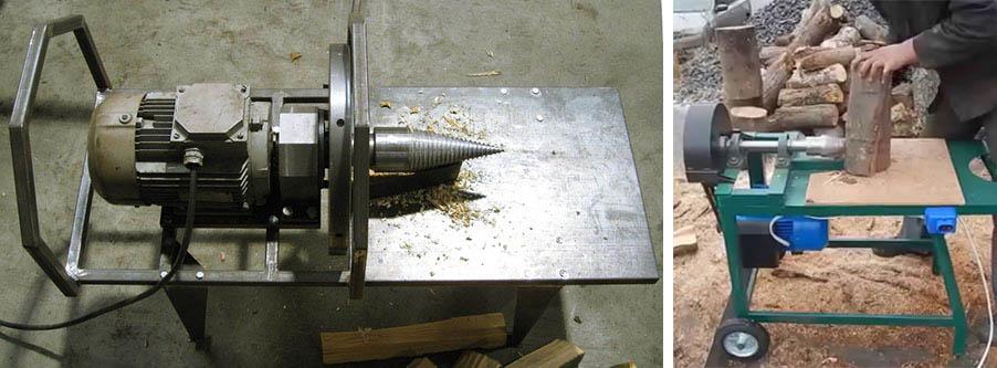 Упрощенная конструкция винтового дровокола