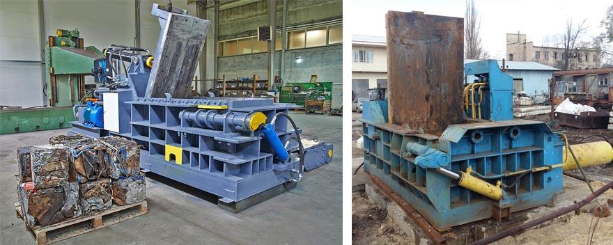 Пакетировочные прессы для обработки металлолома