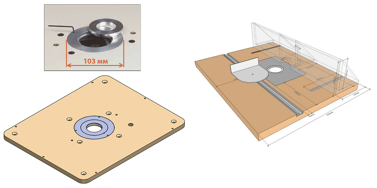 Самодельная пластина для установки ручного фрезера