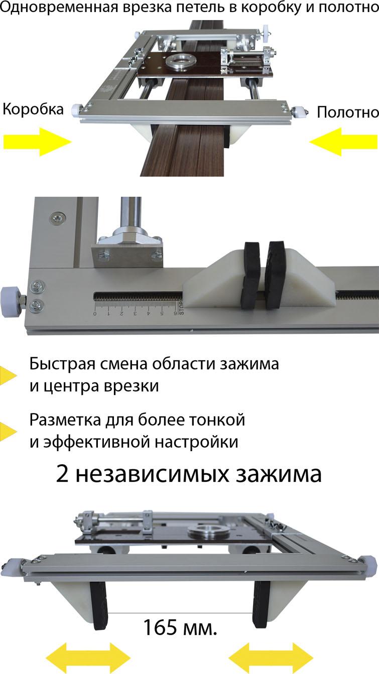 Универсальная фрезерная каретка для врезки дверных петель и замков